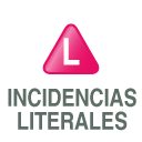 incidencias literales