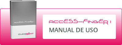 Manual de uso de Access Finger I, control de accesos